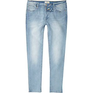 Jack & Jones – Hellblaue Skinny Fit Jeans