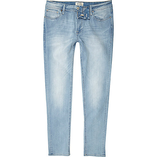 Jack & Jones - Lichtblauwe skinny-fit jeans
