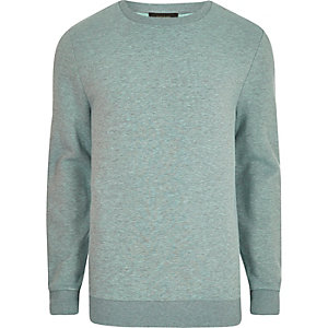 Light green marl crew neck sweatshirt