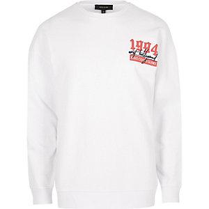 """Weißes, langärmliges Sweatshirt """"1994"""""""