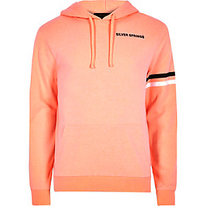 Orange 'Silver Springs' print hoodie