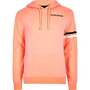 Oranje hoodie met 'Silver Springs'-print