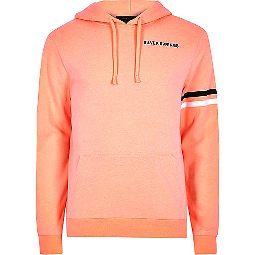 Orange 'Silver Springs' print hoodie