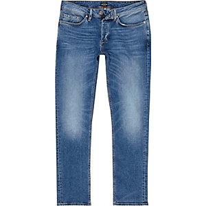 Dylan - Blauwe vervaagde mid wash slim-fit jeans
