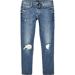 Mid blue wash skinny Sid jeans