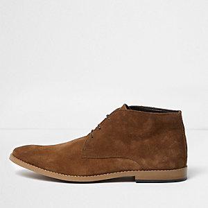 Tan suede chukka boots