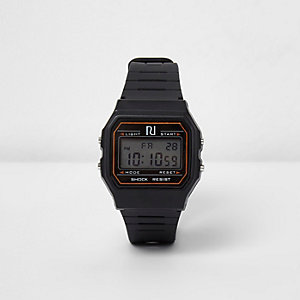 Schwarze Digitaluhr