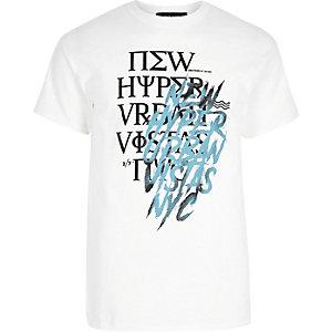 White scribble print T-shirt