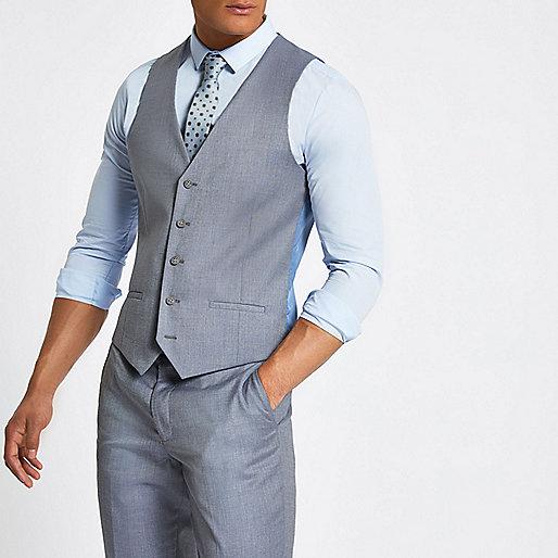 Light blue suit waistcoat
