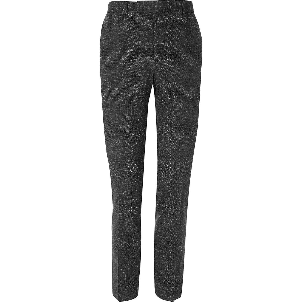 Black super skinny suit trousers