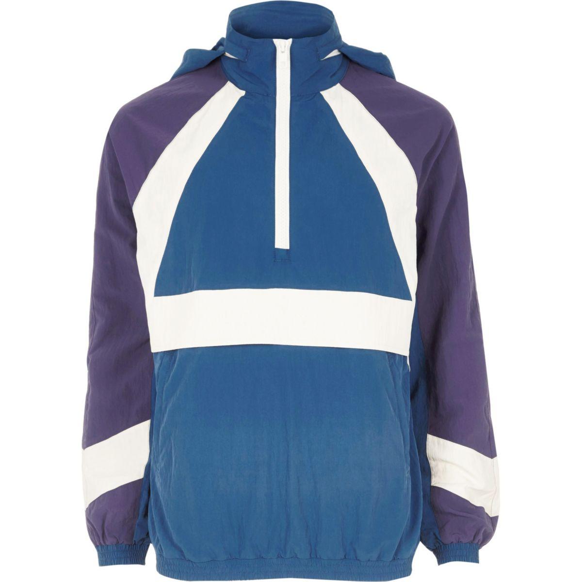 Veste sport bleue à empiècements