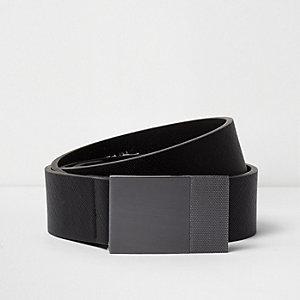 Zwarte riem met gesp met textuur