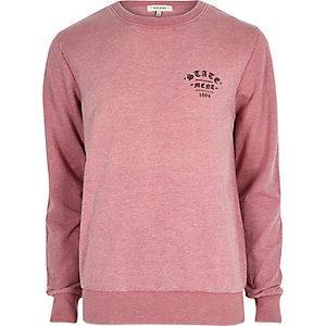 Pinkes, legeres Statement-Sweatshirt