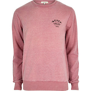 Pink casual statement sweatshirt
