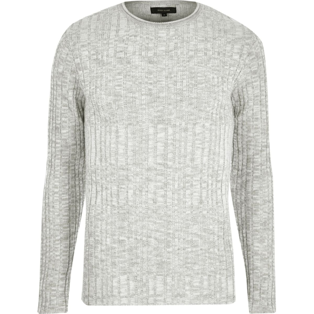 Stone ribbed skinny fit jumper
