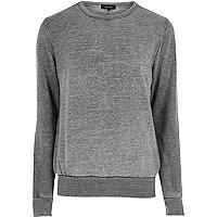 Charcoal burnout crew neck sweatshirt