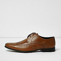 Tan leather smart brogues