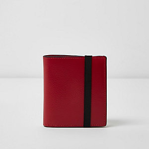 Portefeuille rose à rabat et élastique
