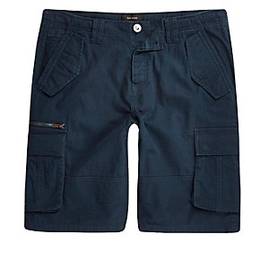 Navy cargo pocket shorts