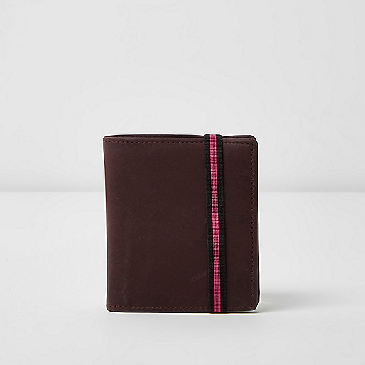 Purple elastic fold out wallet