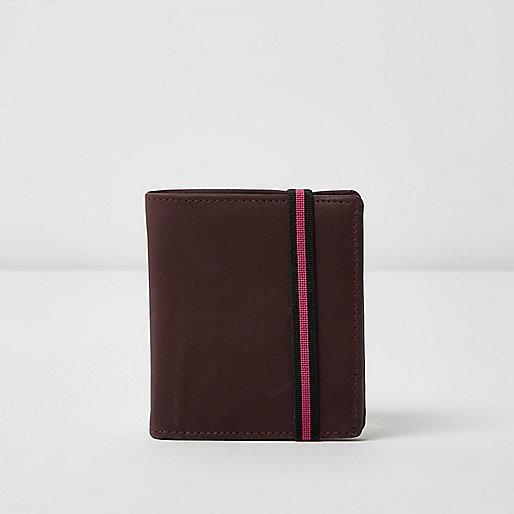 Purple elastic fold out wallet