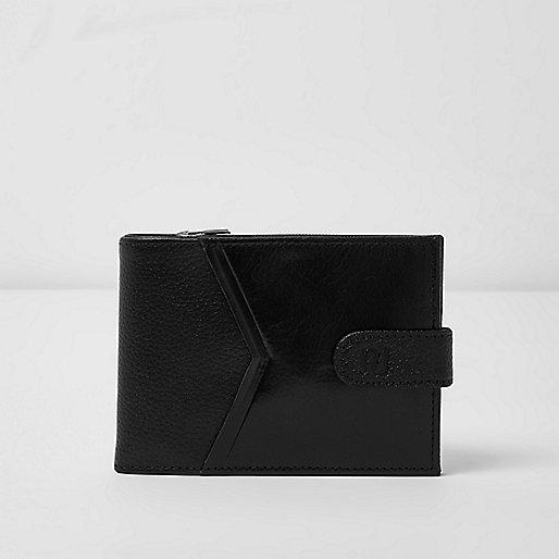 Black chevron panel wallet