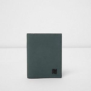 Porte-cartes bleu à logo RI