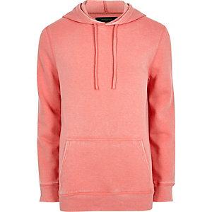 Roze burnout jersey hoodie