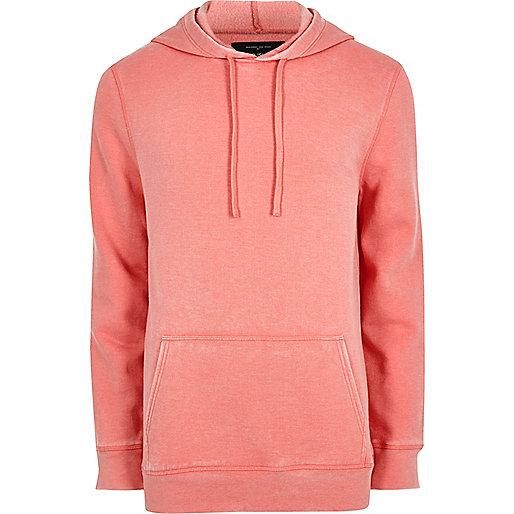 Pink burnout jersey hoodie