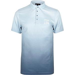 Polo slim bleu marine effet tie and dye