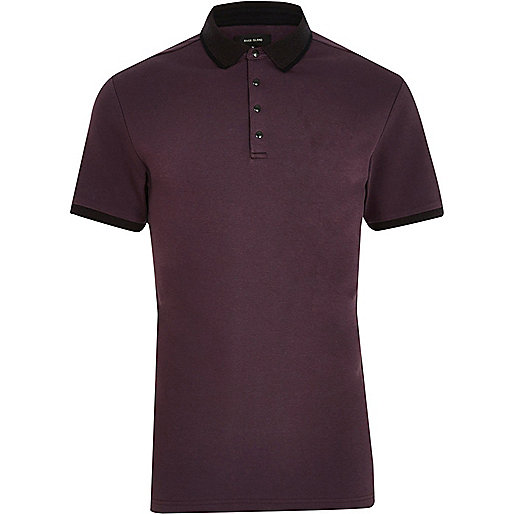 Big and Tall purple polo shirt