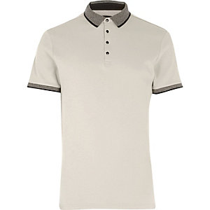 Big and Tall stone polo shirt