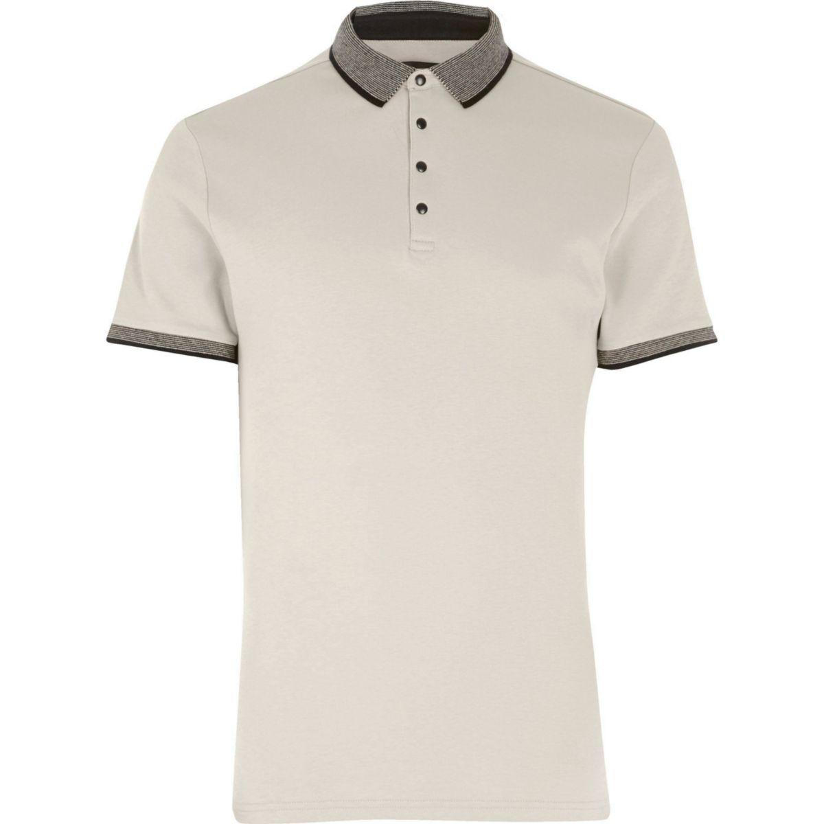 Big and Tall stone polo shirt