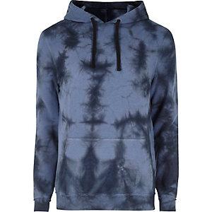 Navy splash tie dye hoodie