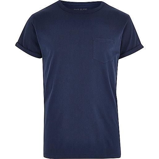 Navy patch pocket T-shirt