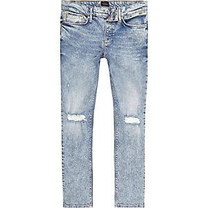 Sid - Lichtblauwe skinny jeans met gescheurde knie voor jongens