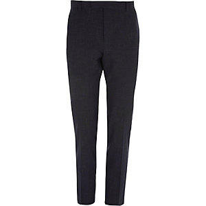 Marineblauwe skinny fit pantalon