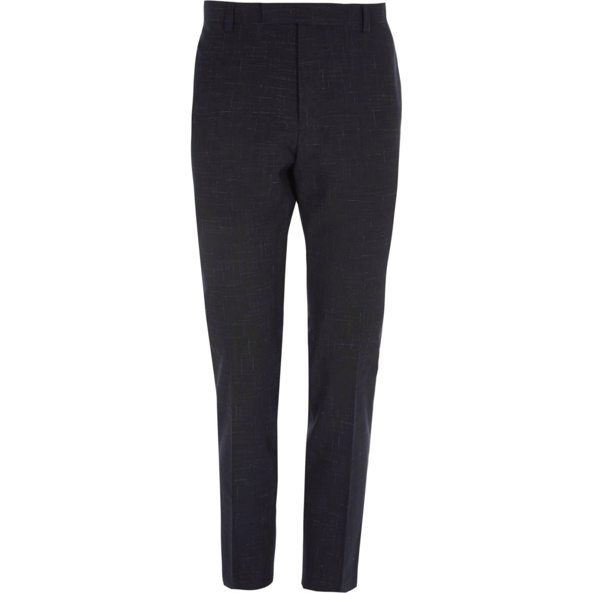 Navy skinny fit suit pants