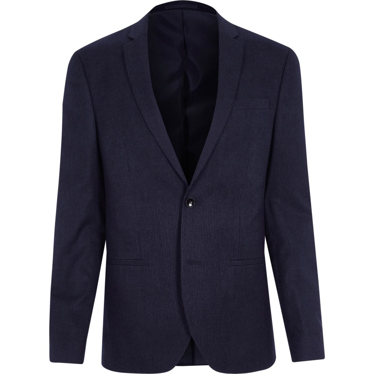 Navy stripe skinny suit jacket
