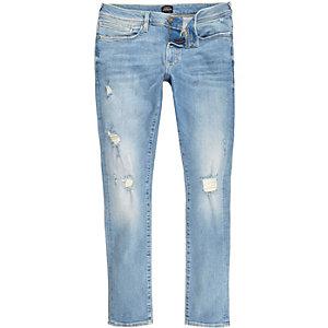 Danny–Jean super skinny bleu clair déchiré