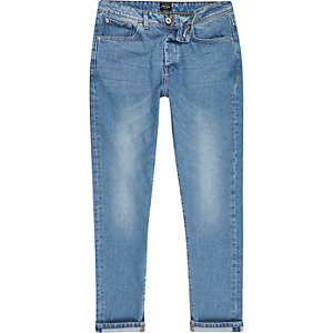 Jimmy – Pantalon fuselé slim bleu clair