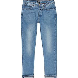 Jimmy - Lichtblauwe smaltoelopende jeans