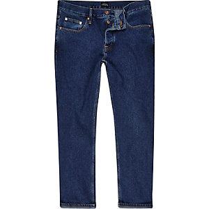Cody - Donkerblauwe ruimvallende jeans
