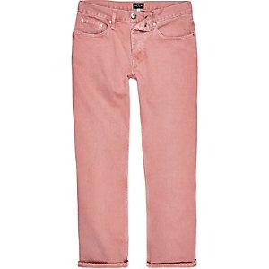 Cody - Roze wash ruimvallende jeans