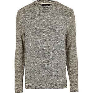 Schwarz und weiß strukturierter Pullover
