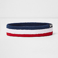 White stripe chevron tab headband