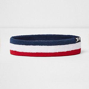 White stripe chevron tab headband