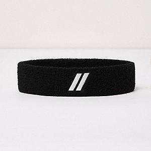 Schwarzes Stirnband mit Streifen