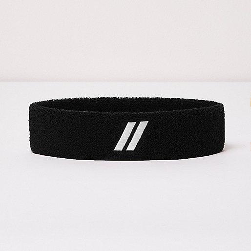 Black contrast stripe headband