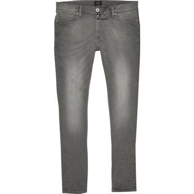 Danny grey wash super skinny jeans